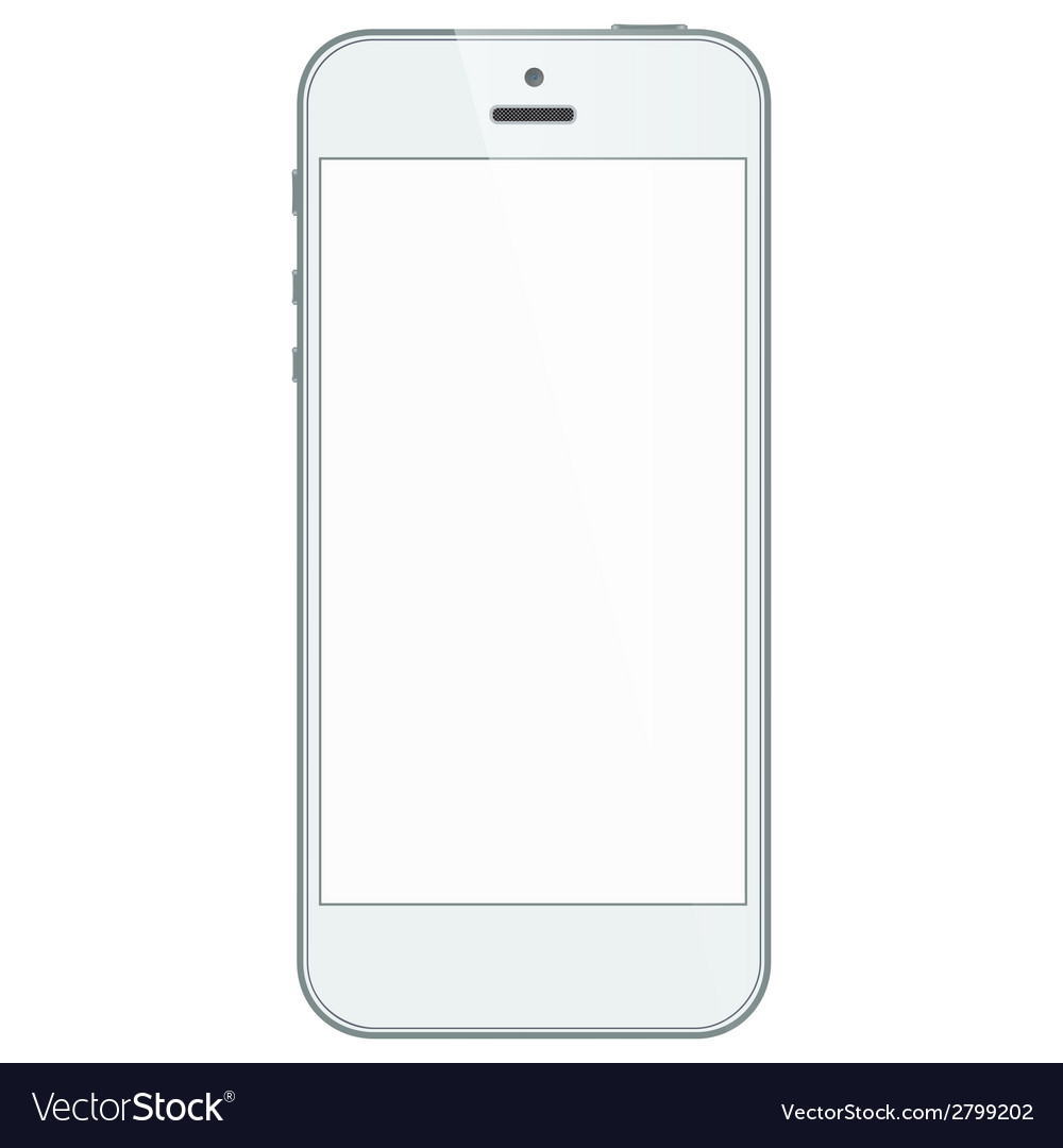 White business iphone 5s isolated on white vector image
