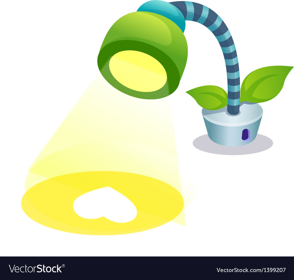 A lamp is placed vector image