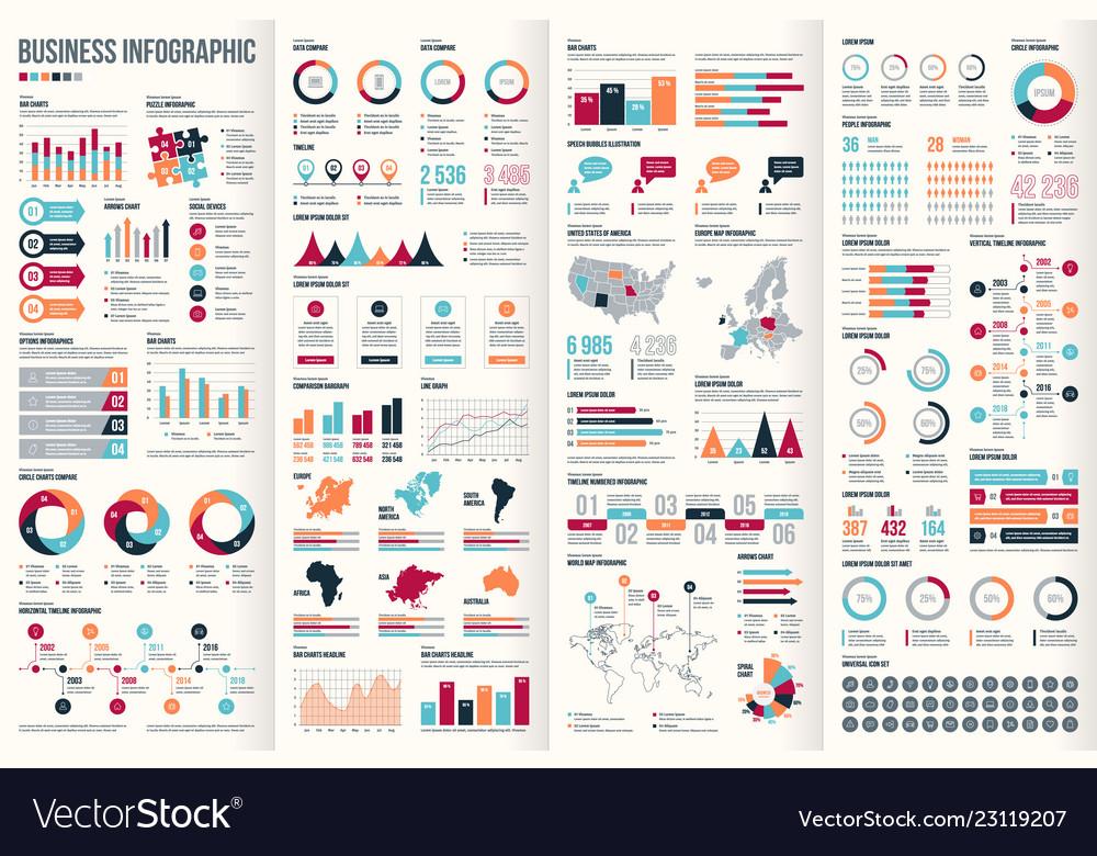 Big set infographic elements