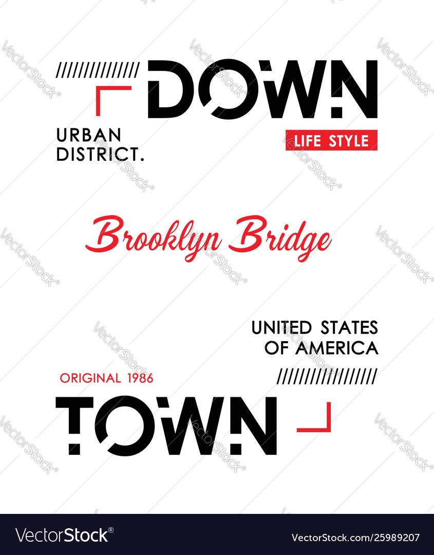 Downtown new york sport typography design