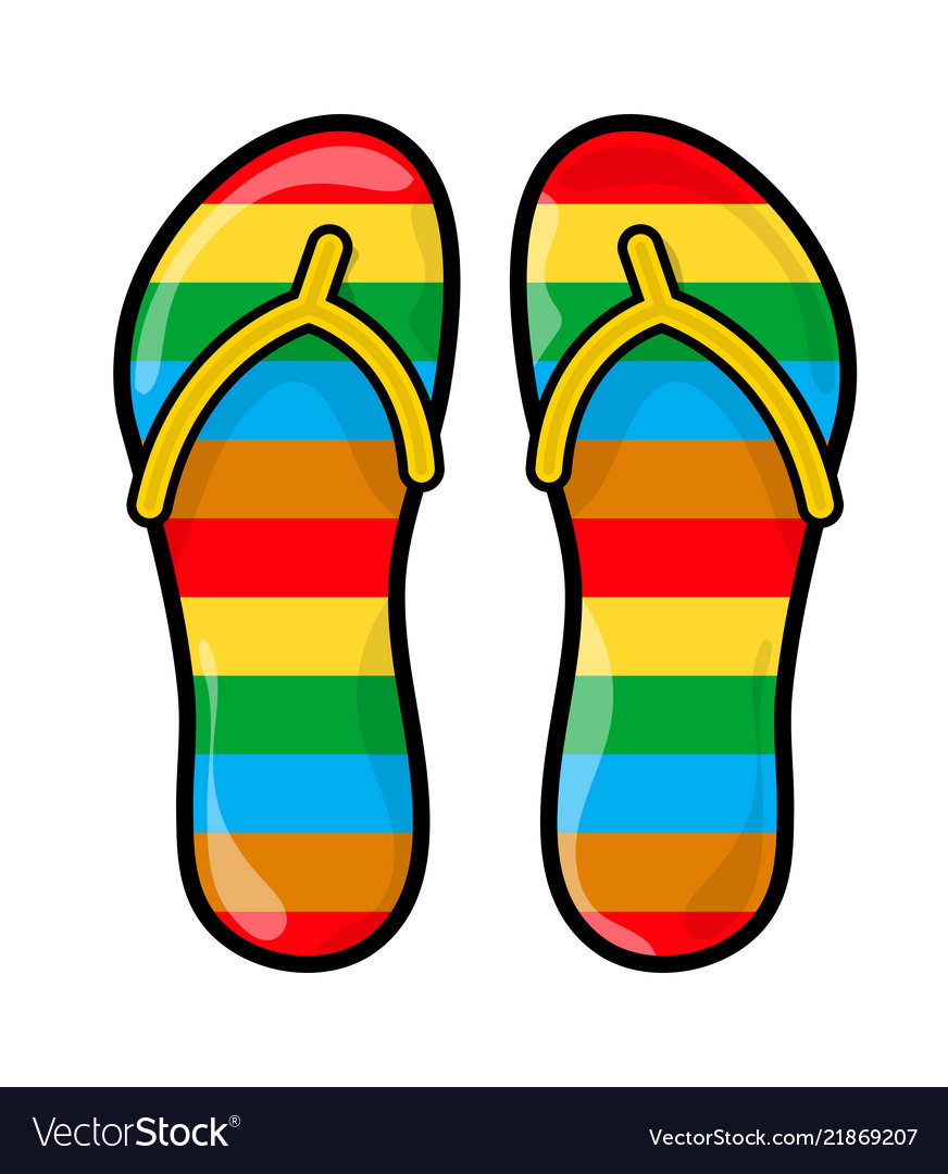 e95caf91d4df8c Flip flops slippers symbol icon design Royalty Free Vector