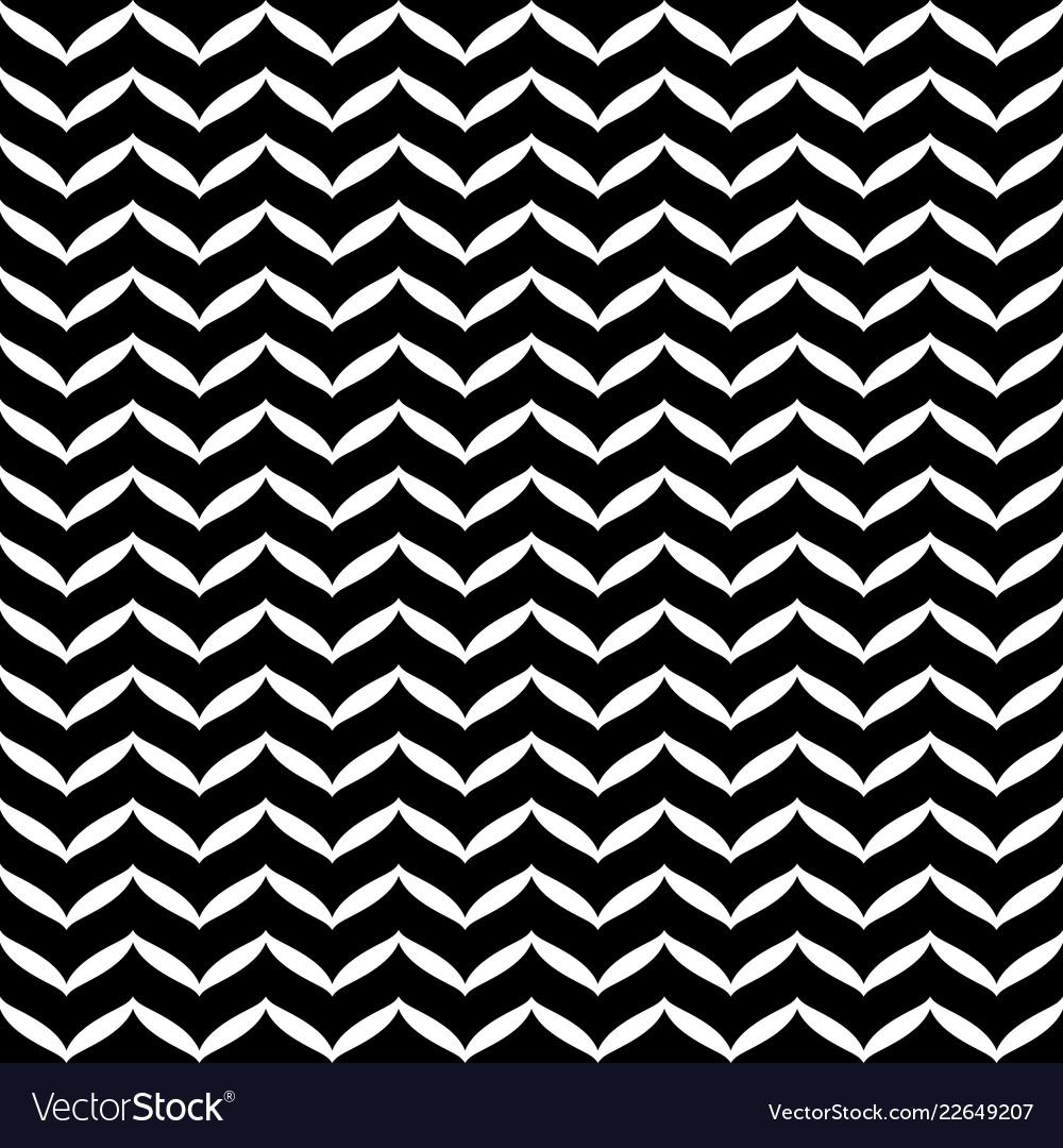 Geometric seamless black and white texture
