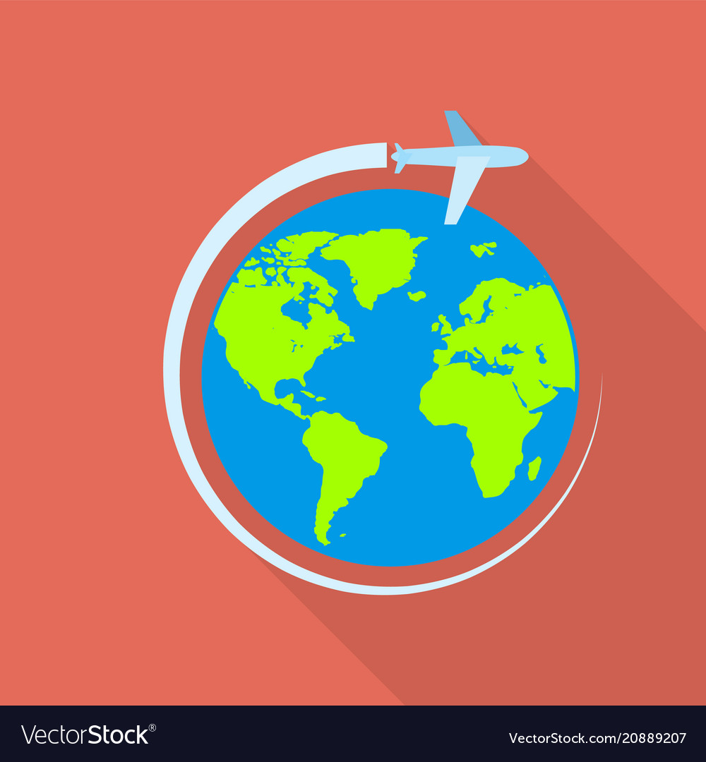 Global airway icon flat style