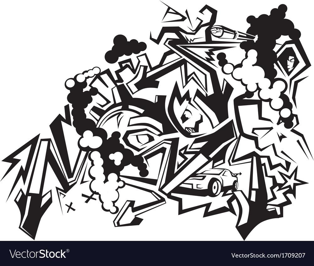 graffiti art 1 royalty free vector image vectorstock rh vectorstock com graffiti vector pattern graffiti vector pack free