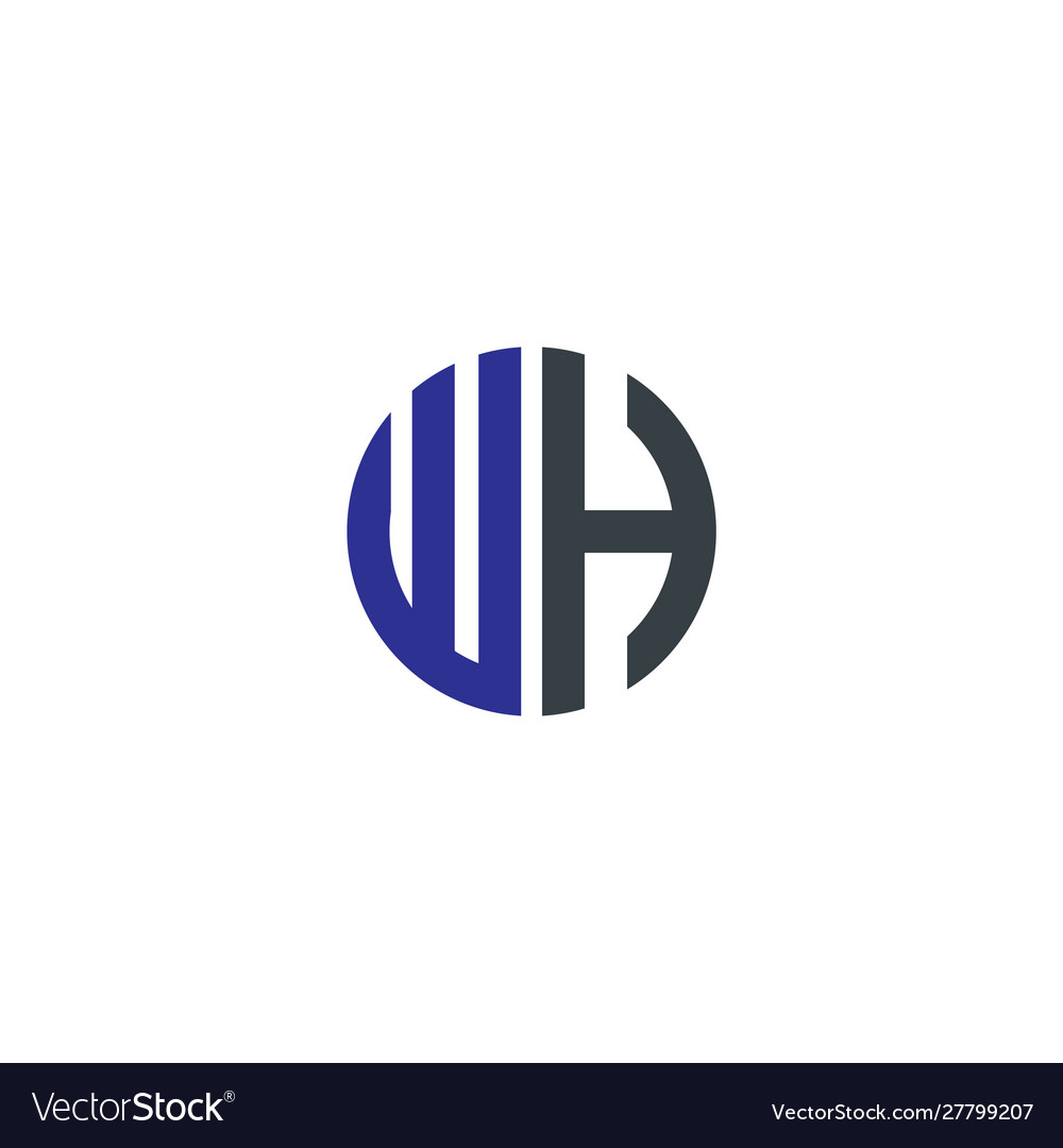 Initial letter wh creative design logo