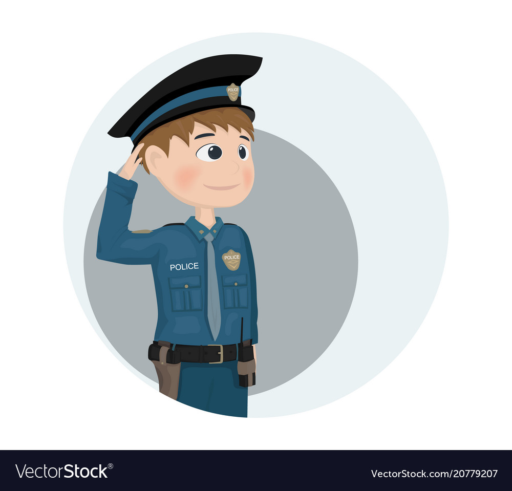 policeman icon cartoon character template vector image
