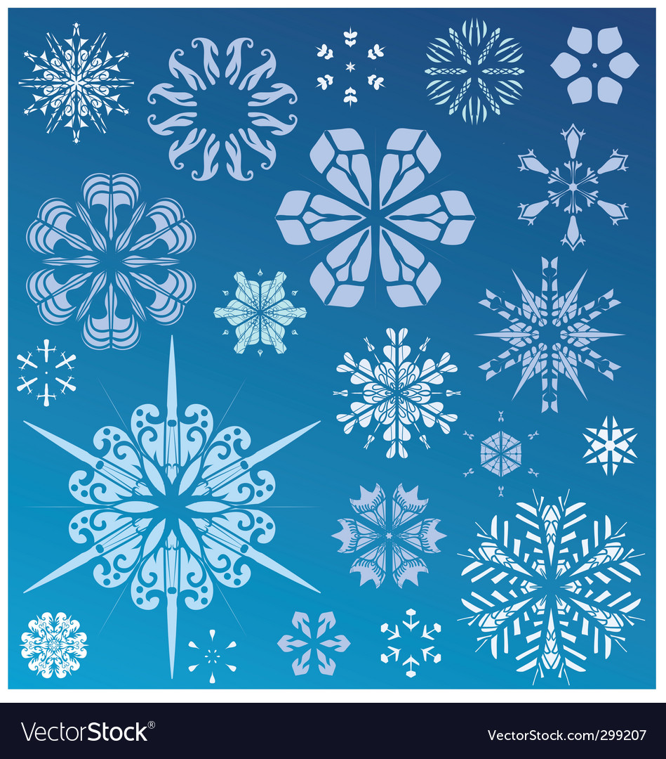 Snowflake design collection