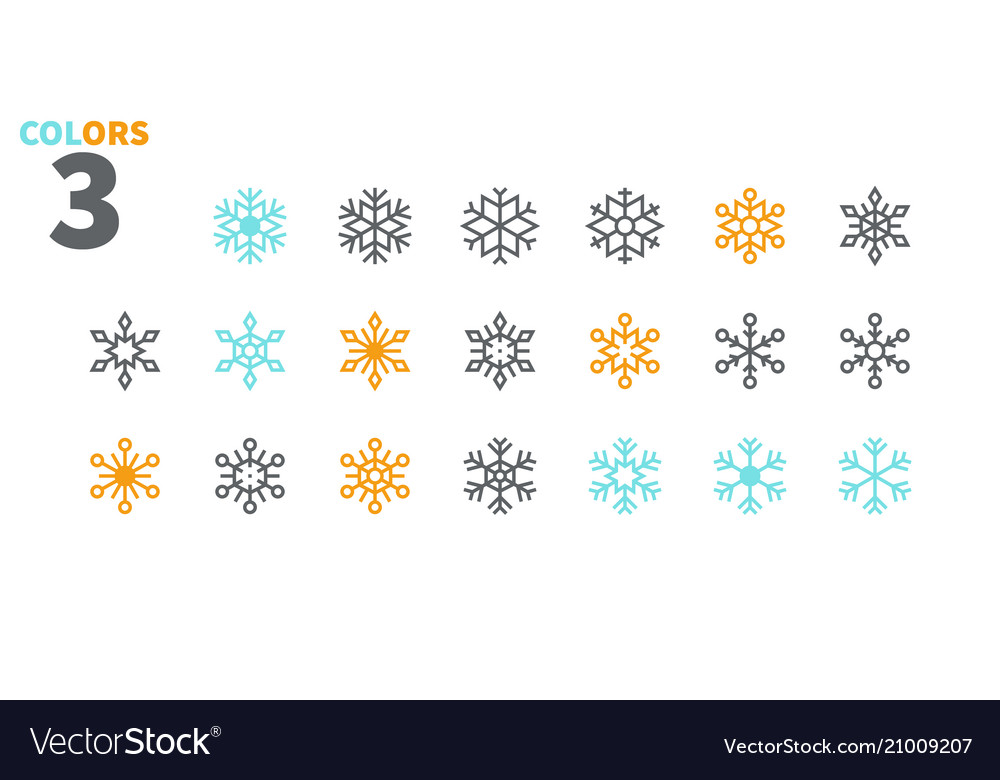 Snowflakes pixel perfect icons well-crafted