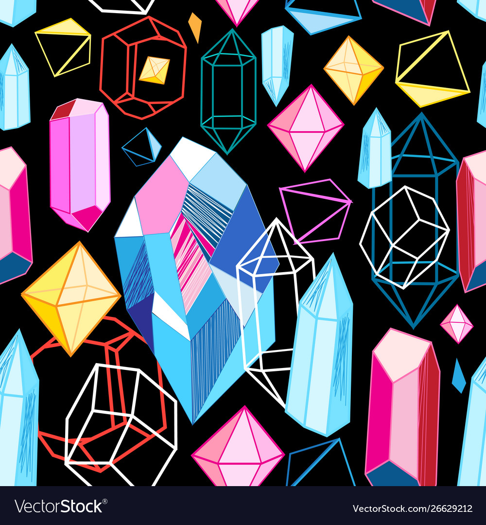 Bright pattern crystals