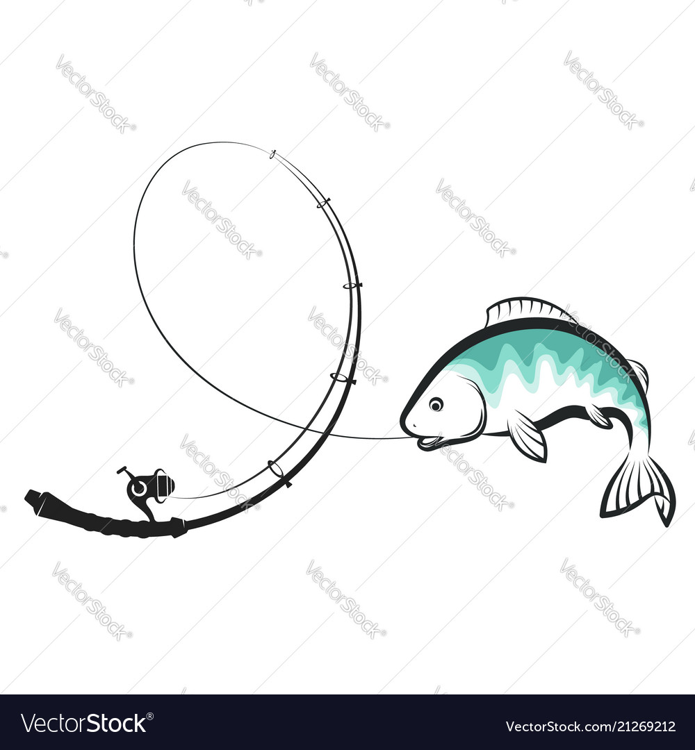 Fishing rod with fish catches