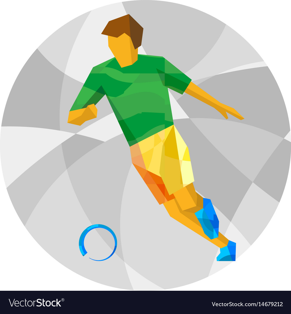 Football player with abstract patterns