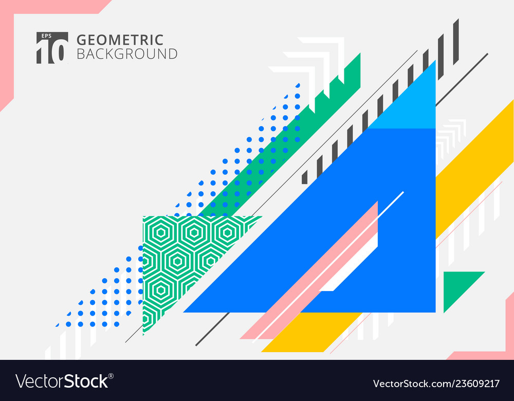 Abstract colorful geometric triangles shape with