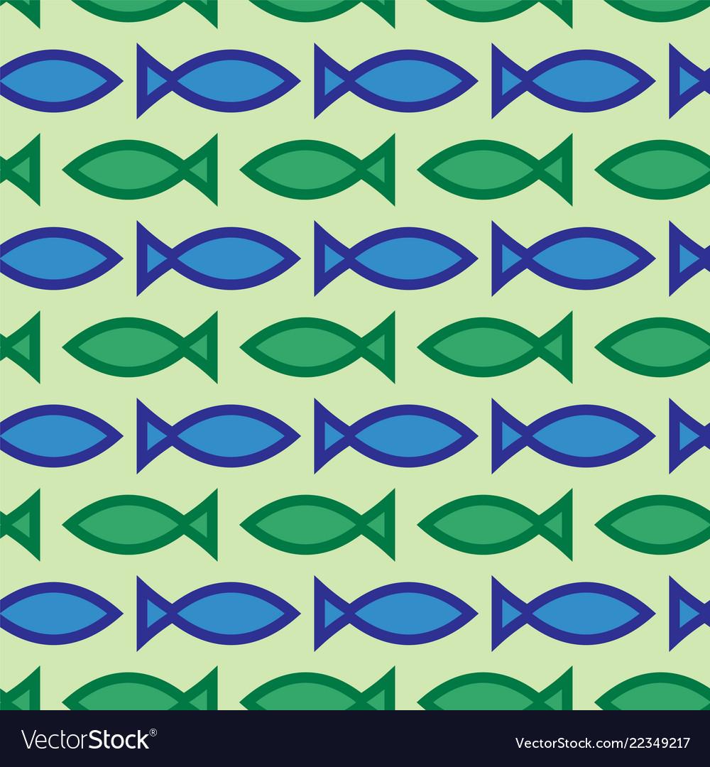 Abstract seamless fish pattern