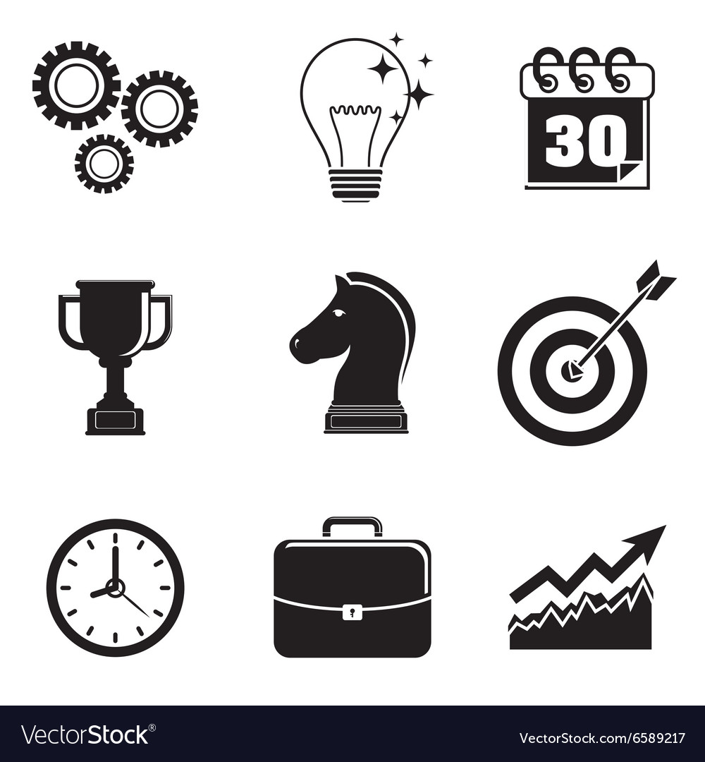Business strategies and solutions vector image