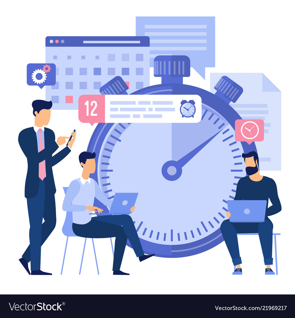 Business timeline planning vector