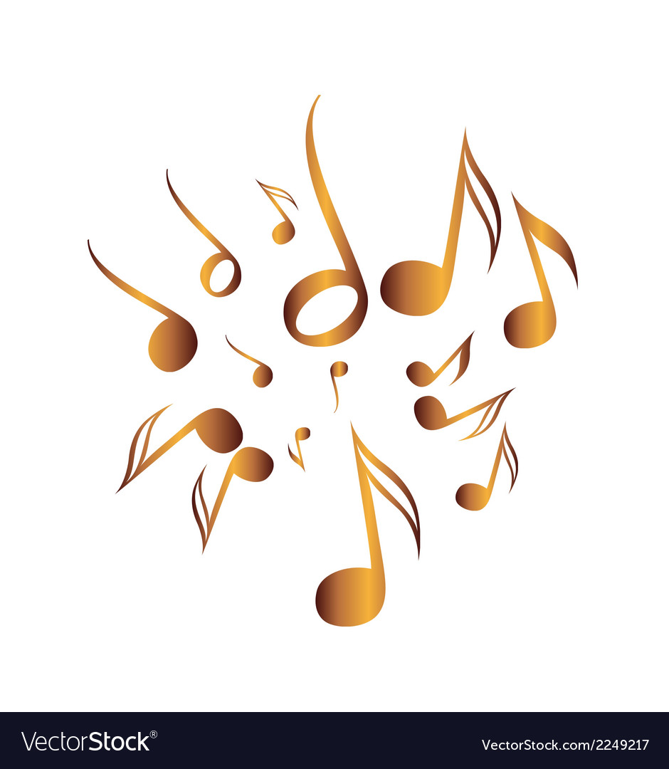 Classical Music Pack icon symbol golden