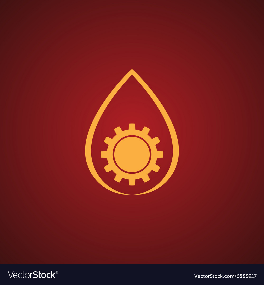 Factory logo over red vector image