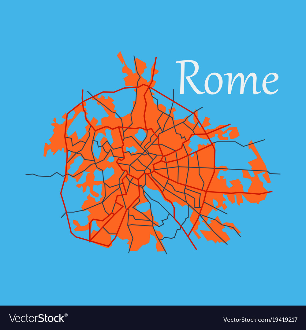Map, Rome & Street Vector Images (45) City Map Of Rome on