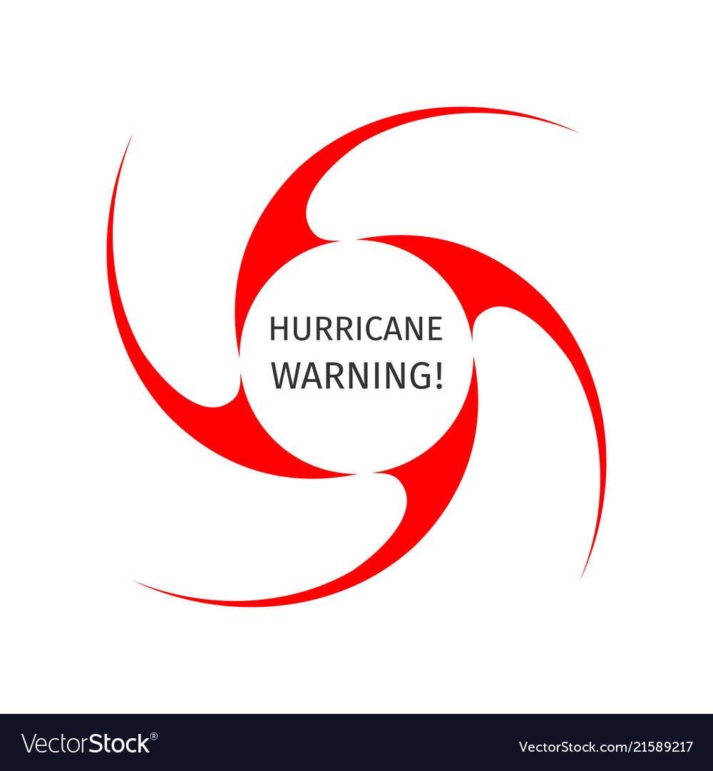 Graphic Symbol Of Hurricane Warning Royalty Free Vector