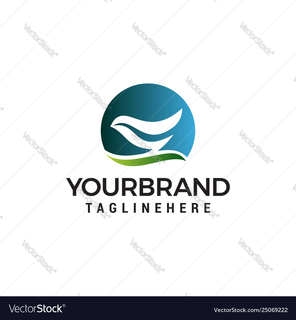 Abstract bird logo design concept template