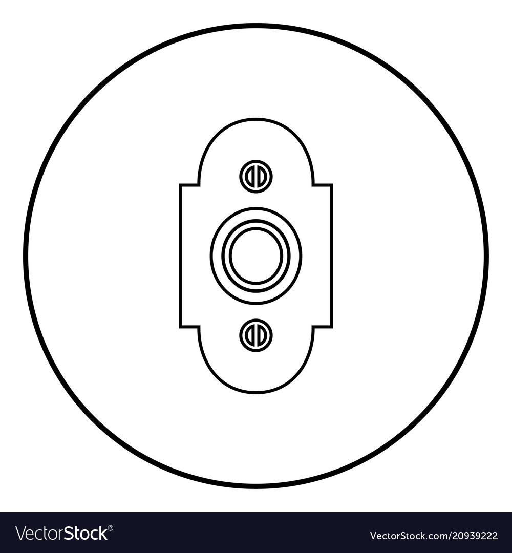 Doorbell icon black color simple image
