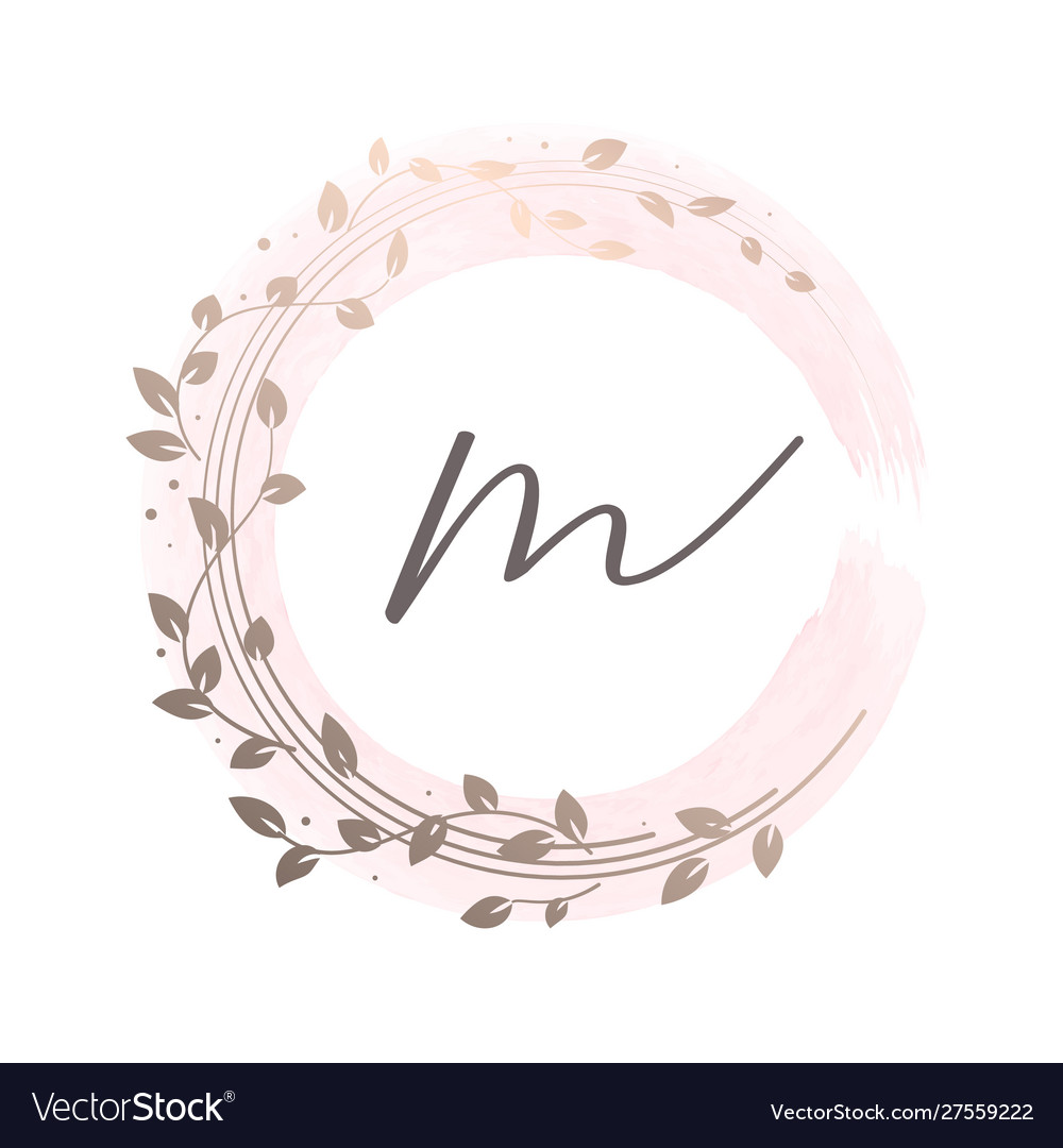 Floral wreath on watercolour background feminine