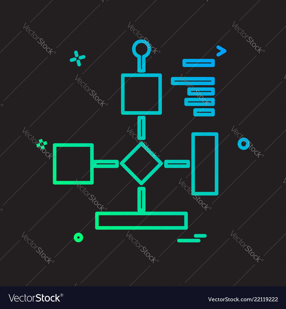 Flowchart icon design
