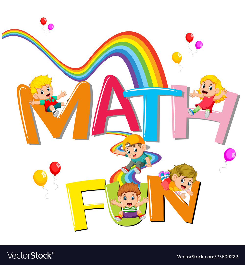 Font Design For Word Math Is Fun With Kids Sliding