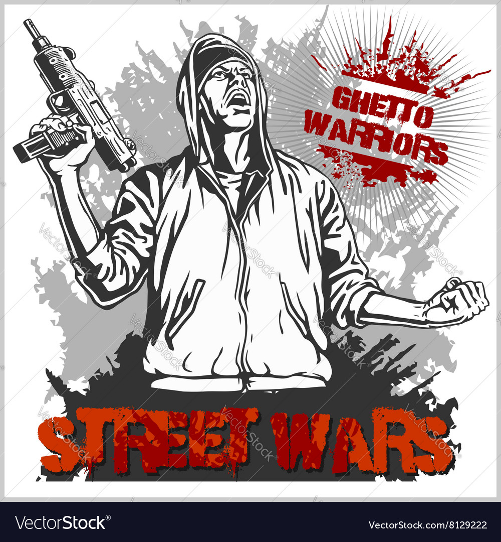 Ghetto Warriors Gangster on vector image