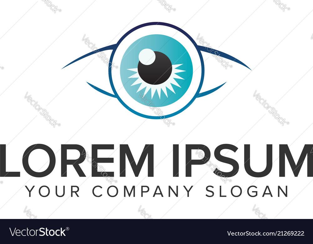 Glasses eye logo design concept template fully