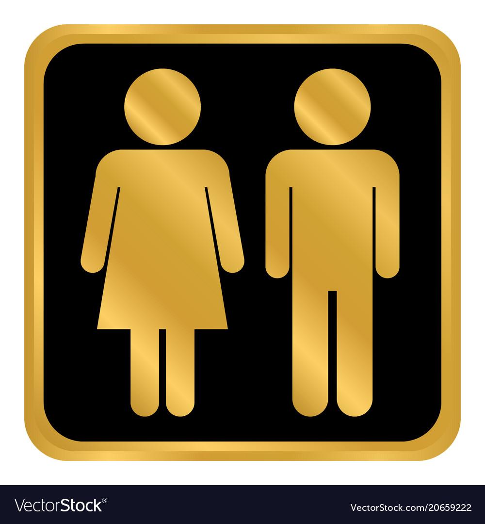 Male and female button