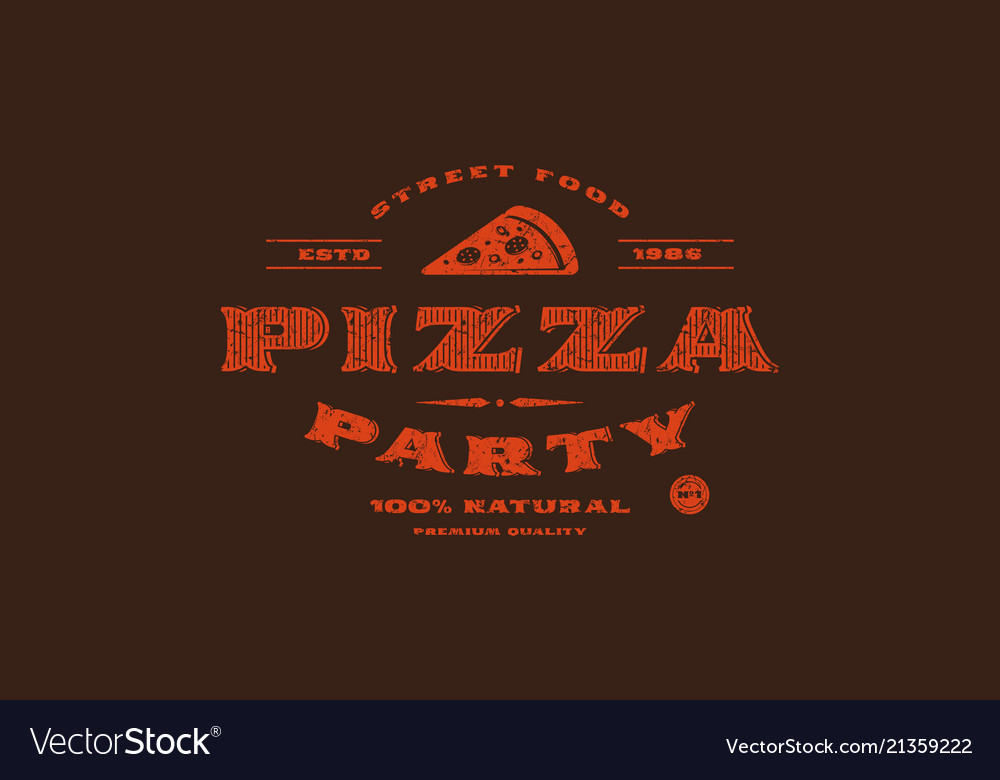 Stock template of pizzeria label