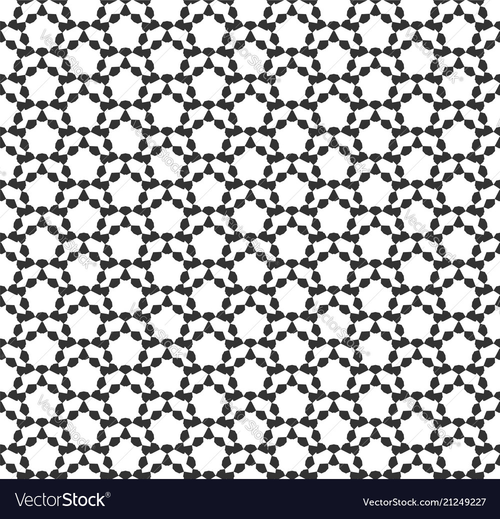 Abstract hexagon geometric seamless pattern