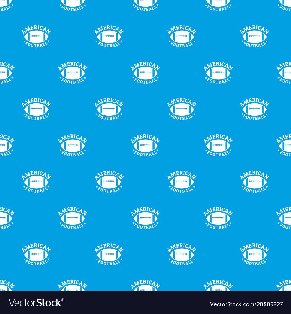 American football pattern seamless blue