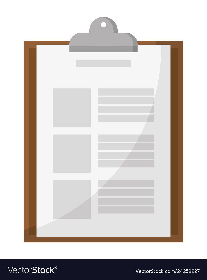 Delivery checklist icon isolated