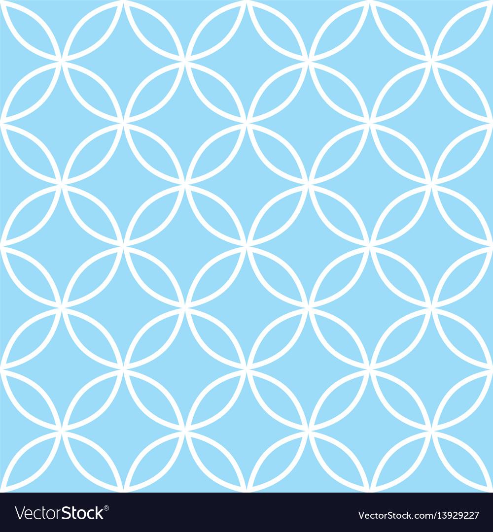 Geometric seamless pattern in pastel blue modern