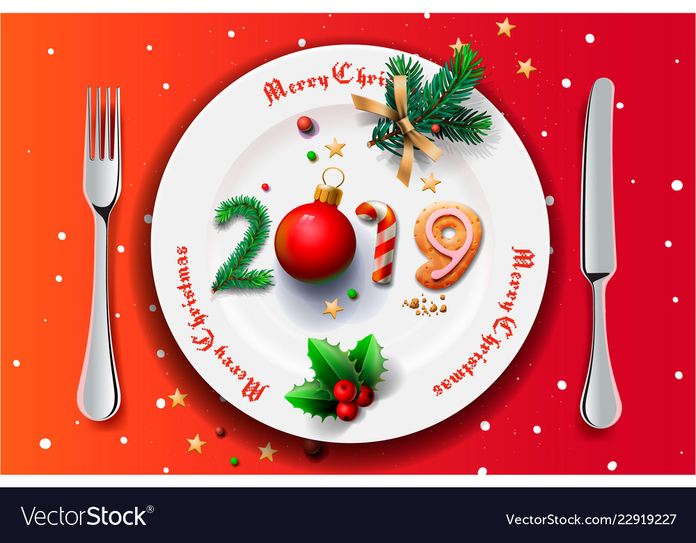 Merry christmas and happy new year 2019 christmas