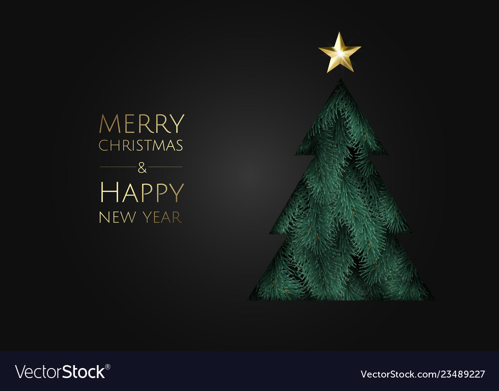 Merry christmas and happy new year modern