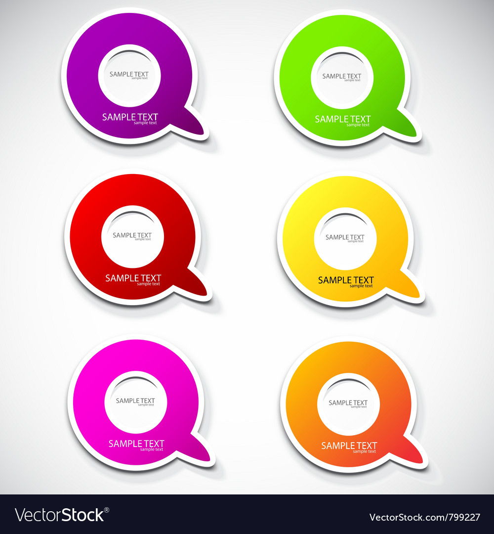 Paper round bubble for speech vector image