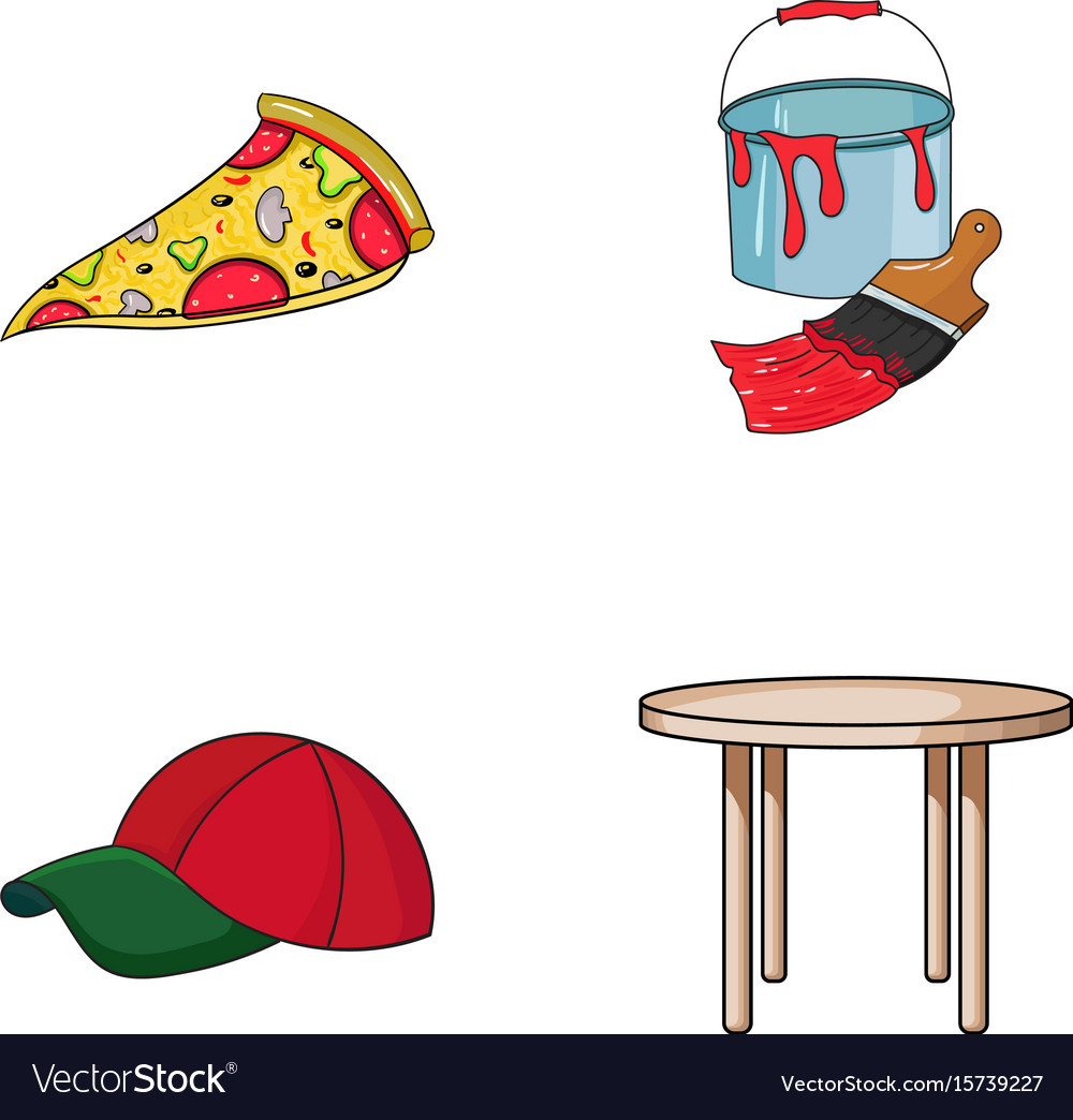 Pizzeria clothes and other web icon in cartoon