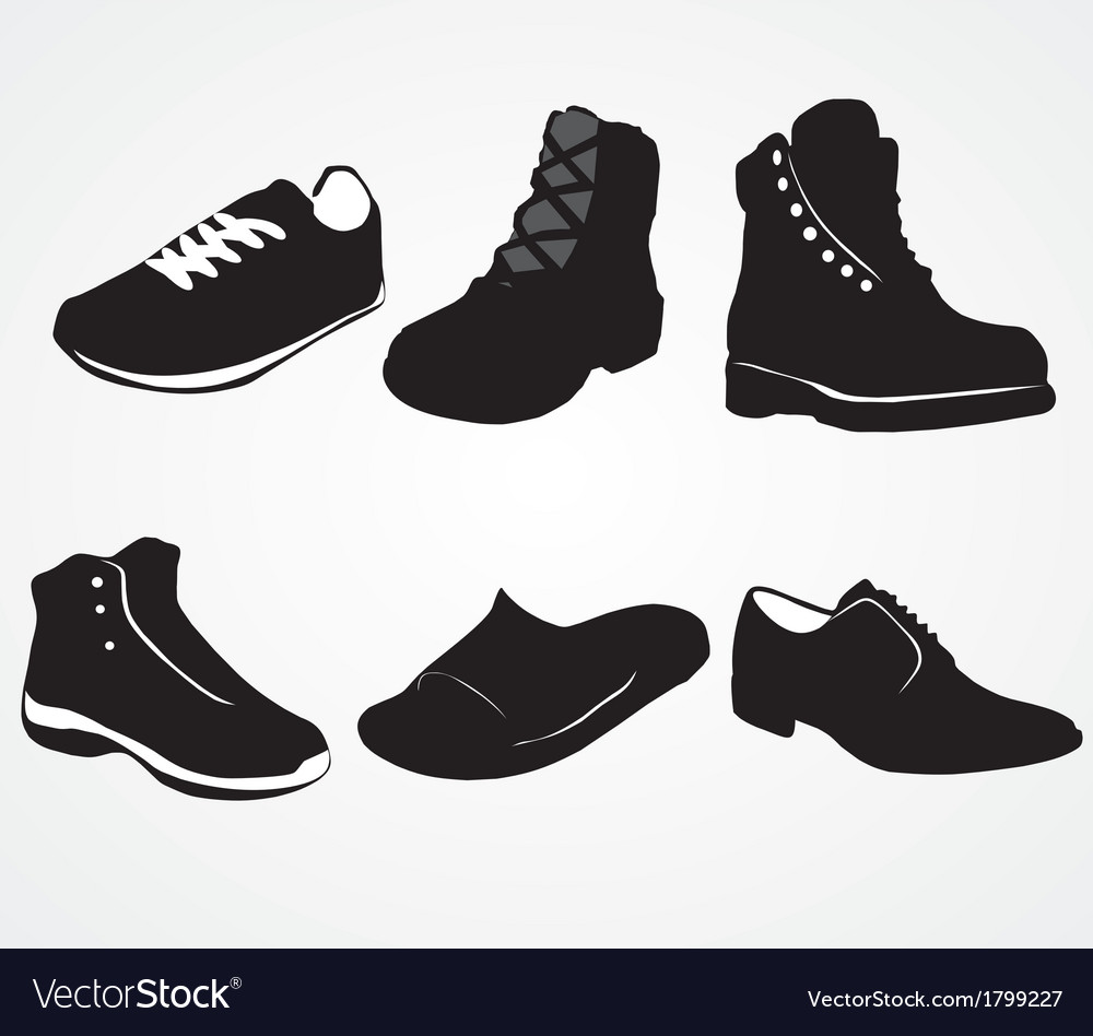 deec3a091f Set of icons of mens shoes Royalty Free Vector Image
