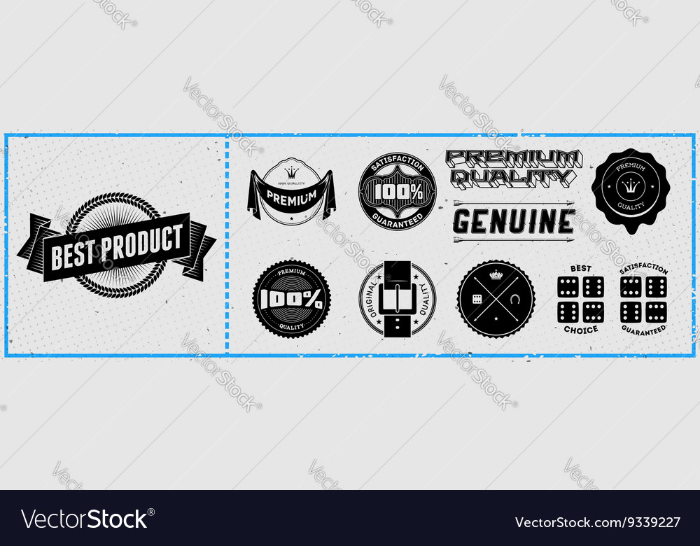 Set of retro hipster labels