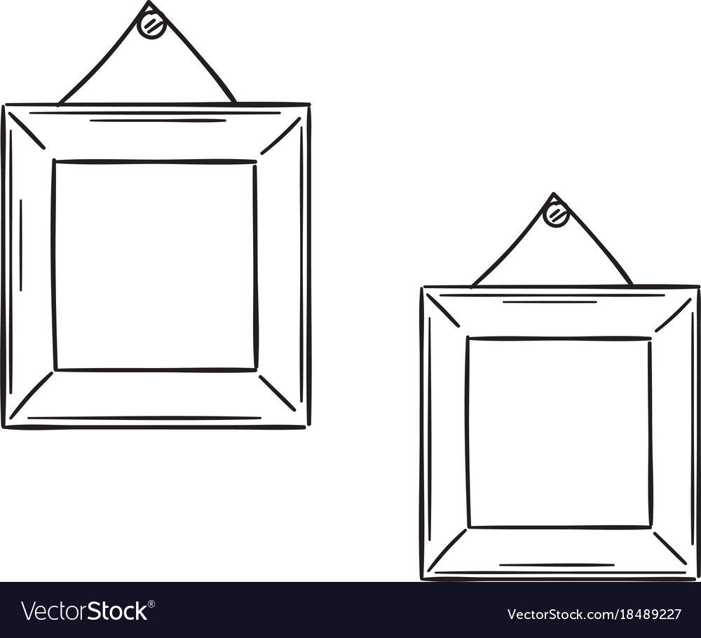 Two simple frames in the sketch style Royalty Free Vector