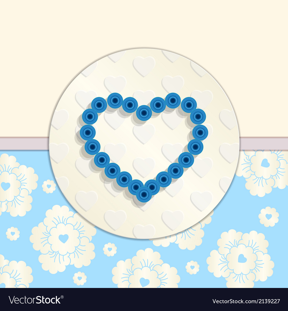 Valentine Paper Blue Heart Greetings Card