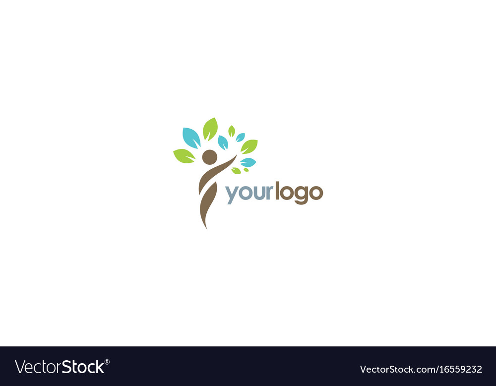 Beauty ecology tree logo vector image