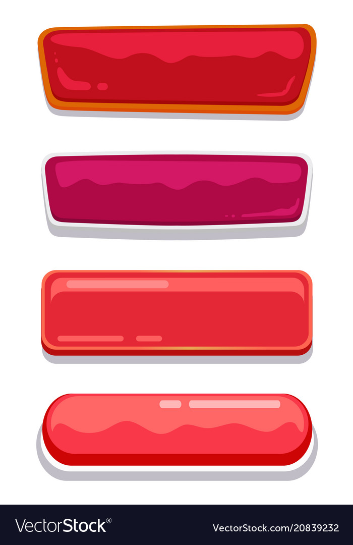 Blank glossy web buttons with place for text set vector image