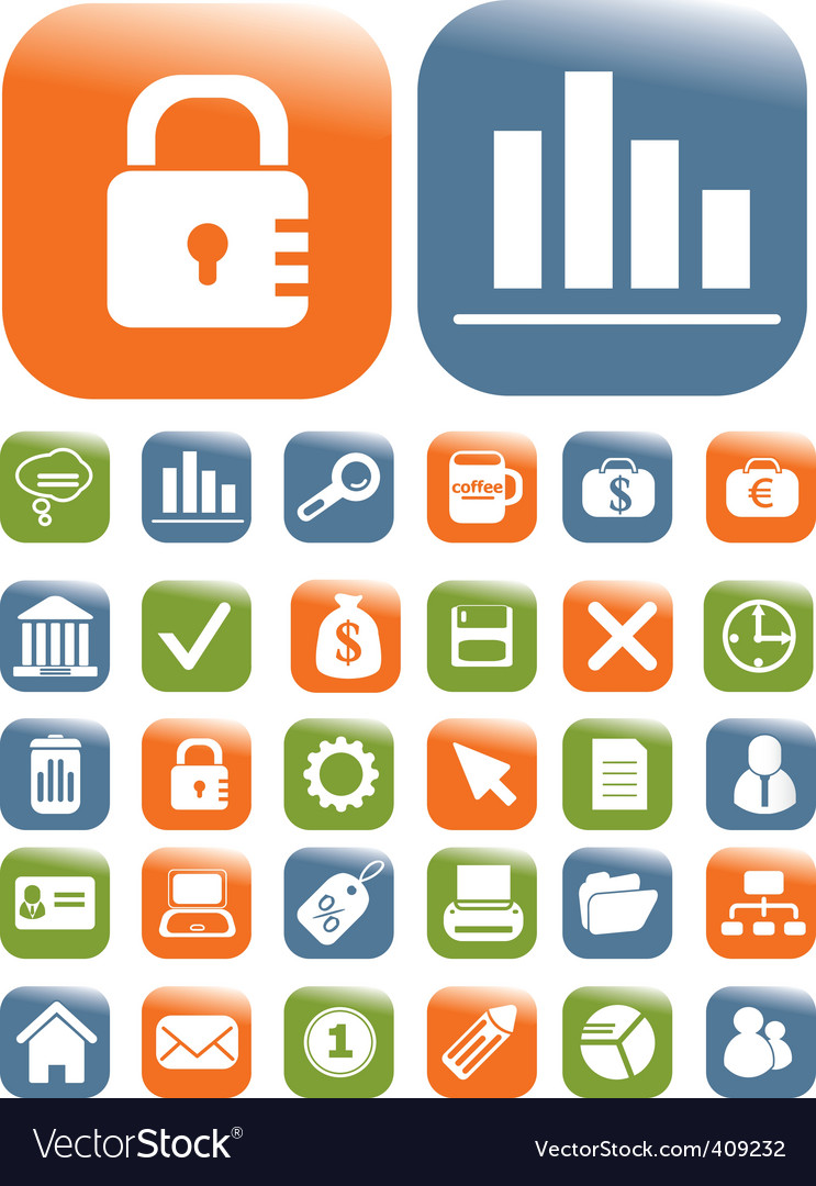 Business buttons vector image