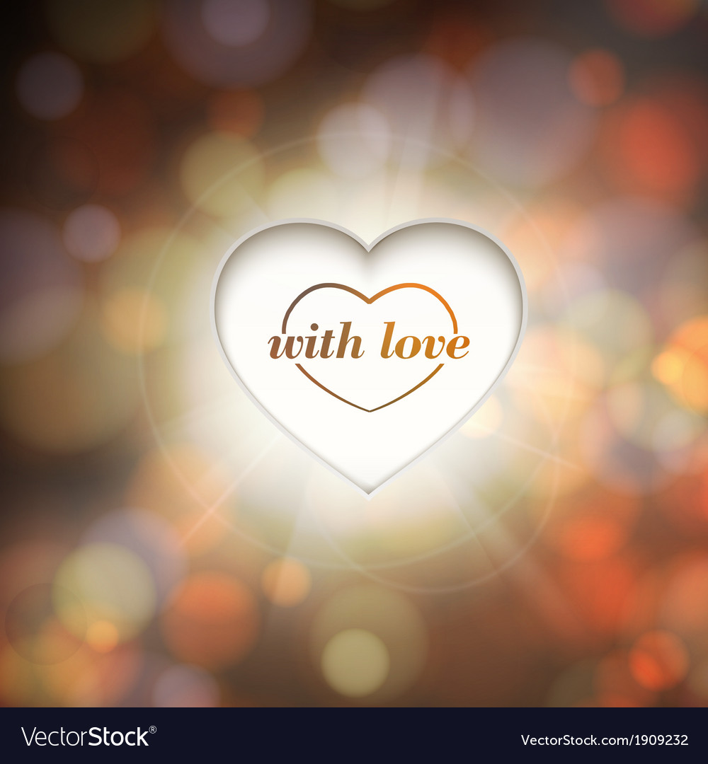 Contour heart and bokeh background
