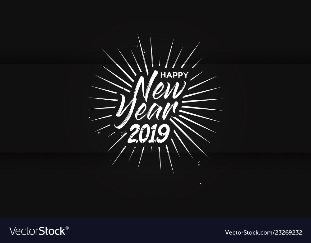 Hand drawn lettering happy new year background
