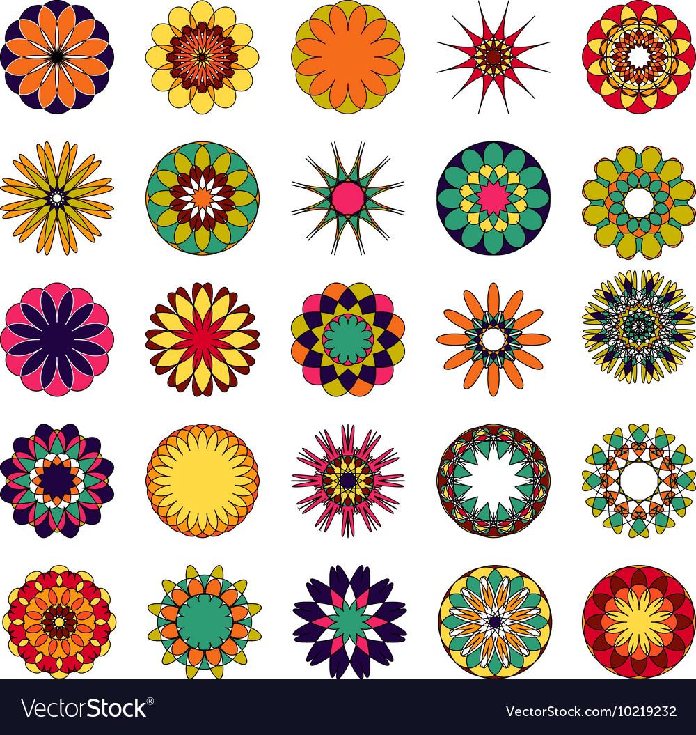 Mandalas Colored mandala set